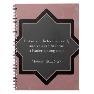 Put Others Before Yourself Business Notebook. Spiral Notebook