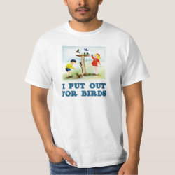 Men's Crew Value T-Shirt with I Put Out For Bidrs (kids) design