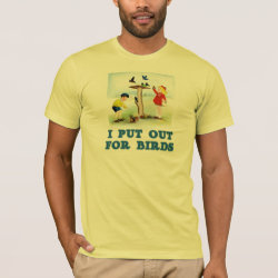 Men's Basic American Apparel T-Shirt with I Put Out For Bidrs (kids) design