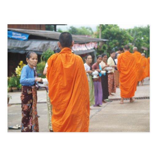 Put Rice to Monk Postcard