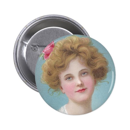Put Roses in Your Cheeks Pinback Button