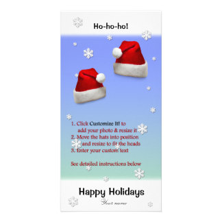 Put Santa Hats on your Photo (directions below) Photo Card