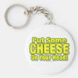 Put Some CHEESE On Your Head! Keychain