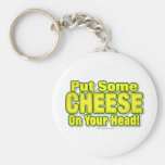 Put Some CHEESE On Your Head! Keychains