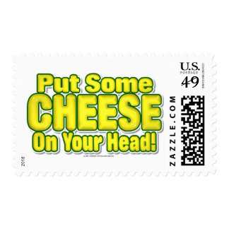 Put Some CHEESE On Your Head! Postage