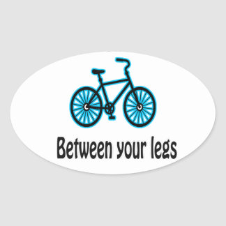 Put Some Fun Between Your Legs Oval Sticker
