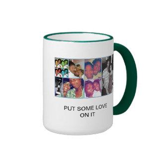 put some love on it ringer coffee mug