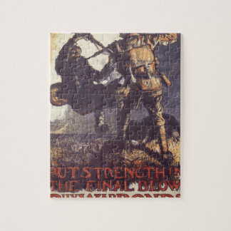 Put strenght in the final blow_Propaganda Poster Jigsaw Puzzle