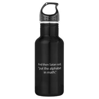 Put The Alphabet In Math Water Bottle