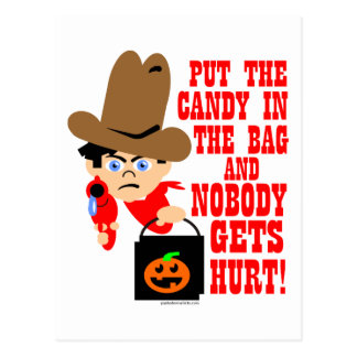 PUT THE CANDY IN THE BAG POST CARDS