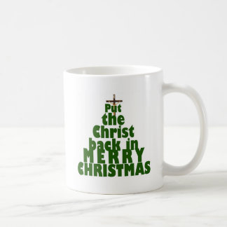 Put the Christ back in Merry Christmas Coffee Mugs