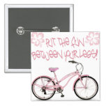Put the FUN between yoru legs - pink 2 Inch Square Button
