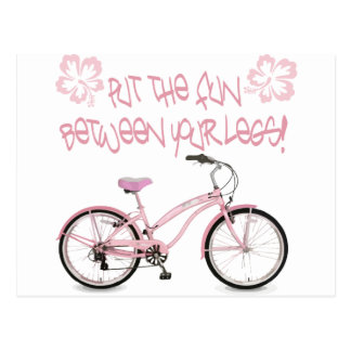 Put the FUN between yoru legs - pink Postcard