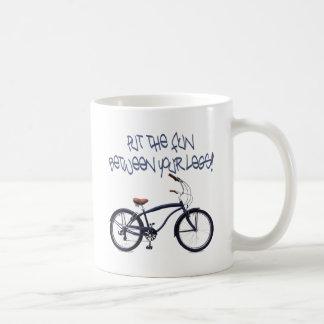 Put the FUN between your legs - blue Classic White Coffee Mug