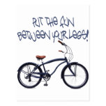Put the FUN between your legs - blue Post Card