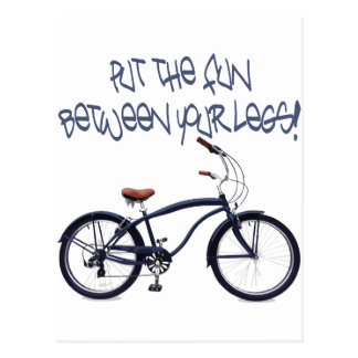 Put the FUN between your legs - blue Postcard