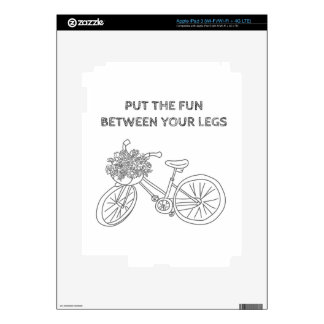 Put the fun between your legs decals for iPad 3