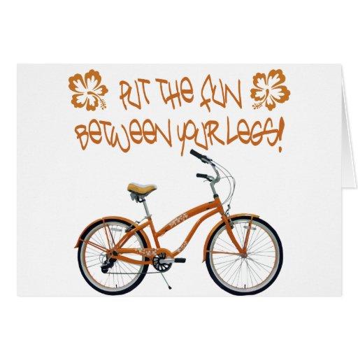 Put the FUN between your legs - Orange Card