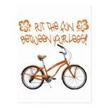 Put the FUN between your legs - Orange Post Cards