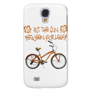Put the FUN between your legs - Orange Samsung Galaxy S4 Cover