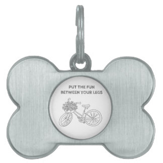 Put the fun between your legs pet name tag