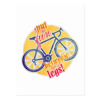 put the fun between your legs! postcard