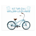 Put the FUN in between your legs - light blue Postcard