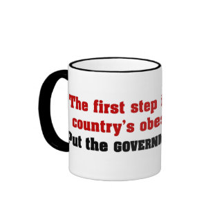 Put the government on a diet mugs