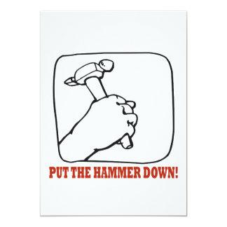 Put The Hammer Down Card