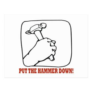 Put The Hammer Down Postcard