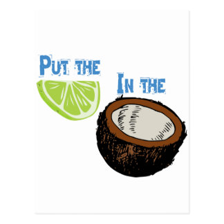 Put the lime in the Coconut! Postcard