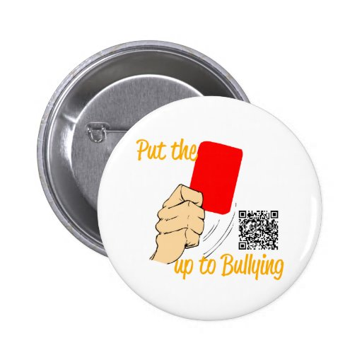 Put the RED CARD up to bullying!... BADGE/BUTTON