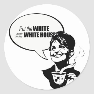 Put the white back in the white house stickers
