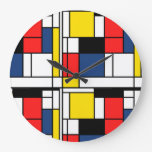 Put this Mondrian style clock in your office