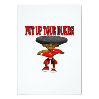 Put Up Your Dukes 2 5x7 Paper Invitation Card
