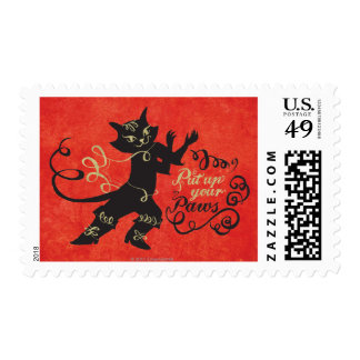 Put Up Your Paws Postage Stamp