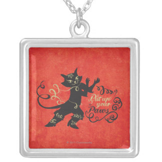 Put Up Your Paws Silver Plated Necklace