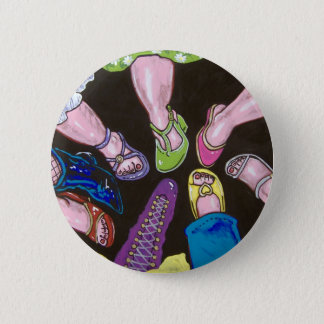 put your best foot forward pinback button