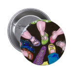 put your best foot forward pinback buttons