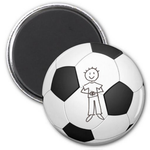 Put Your Child's Photo on a Soccer Magnet