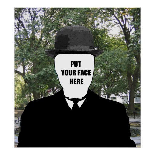 put your face here poster | Zazzle