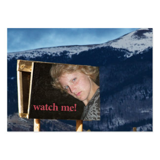 Put your face on a billboard! large business card