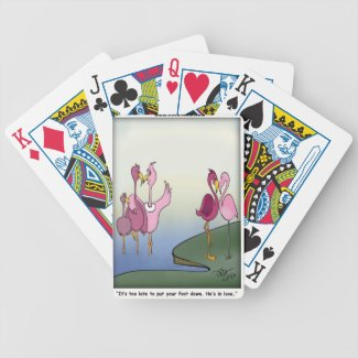 Put Your Foot Down Cartoons Bicycle Playing Cards