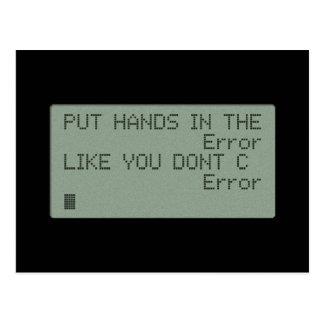 Put your Hands in the Error Postcard