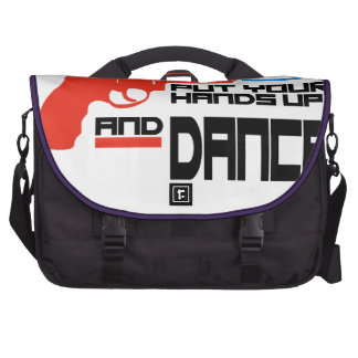 Put your hands up and dance laptop computer bag
