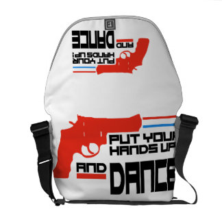Put your hands up and Dance Messenger Bags