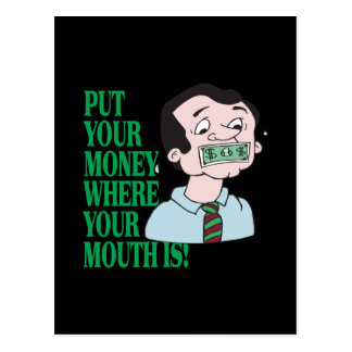 Put Your Money Postcard