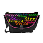 Put Your Name All Over this Colorful Messenger Bag at Zazzle