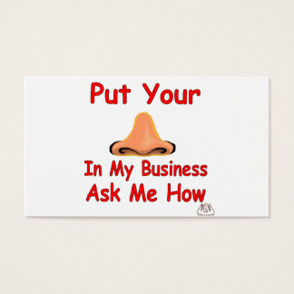 put your nose in2 business card