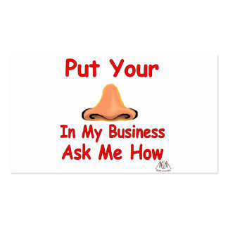 put your nose in2 business card templates